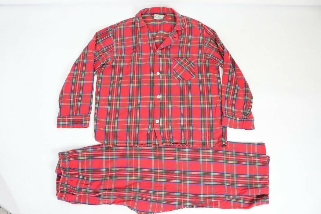 69d2394ac09 Flannel Vintage Large 2 Ll 80s Mens Pajama Piece Bean Plaid PH0P1nxw