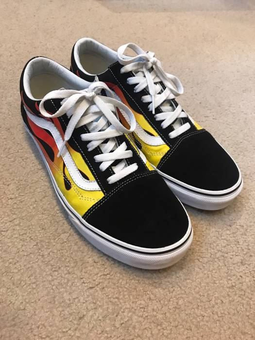 Low Old For Skool Grailed 5 Size Sale Vans Flame Top Sneakers 9 YqU15nH