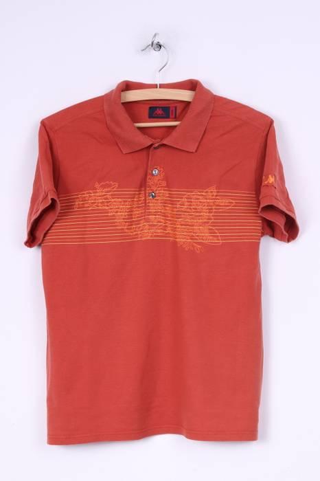 Short M Polo Shirt Kappa Sleeve Cotton Orange Mens Graphic 6f7yvYbg