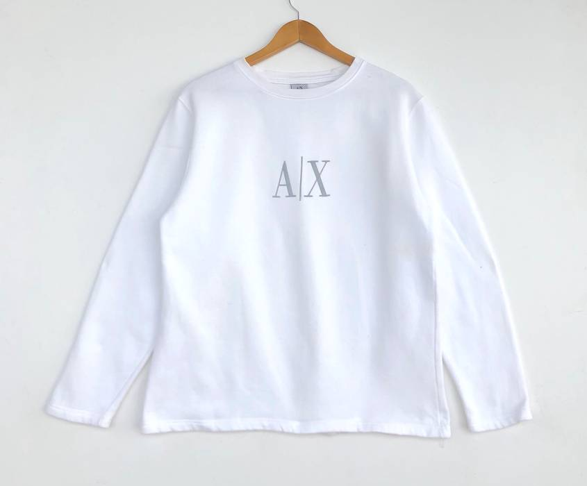 White Logo Sweatshirt Big Jumper Exchange Armani Hqaw88