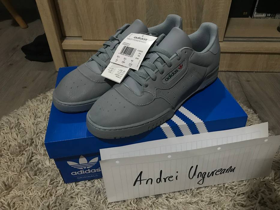 outlet store d93ab 2a301 Grey Kanye Yeezy 10 Calabasas Powerphase West Size Adidas UBXxEdqwB