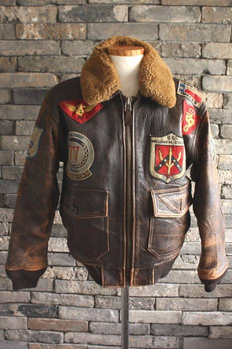 Blood Chit G Avirex Bombers Bomber Flight 1 Leather S Size Jacket Iwtwd1pqnP