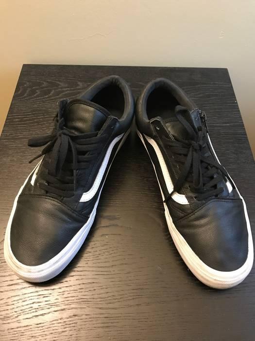 Vans Old Low Leather 10 Premium Blackwhite Size Skool Zip IYybvf76g