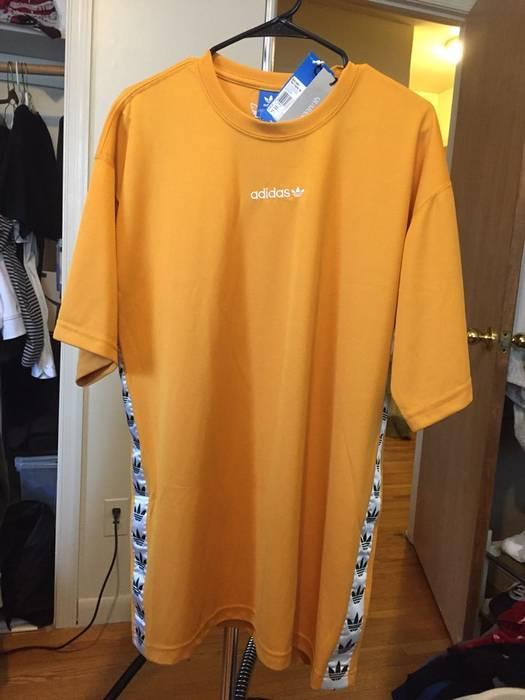 L Tape T Adidas Short Tnt Yellow Vintage Shirt Size qHFxaC