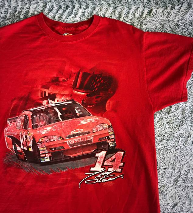 Old Spice L Stewart 14 Nascar T Shirt Vintage Graphic Tony Red cS34RqA5jL