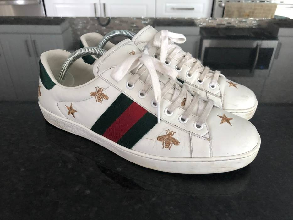 ea61866ae31 Gucci Gucci New Ace Gold Bees And Stars Size 8 - Low-Top Sneakers ...