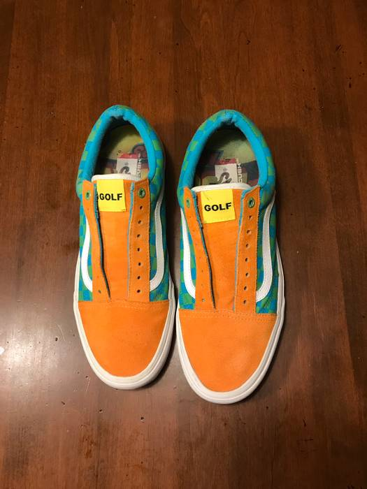 950f24085d7 Vans Orange Green Blue Checkered Shoes Size 11 - Low-Top Sneakers ...