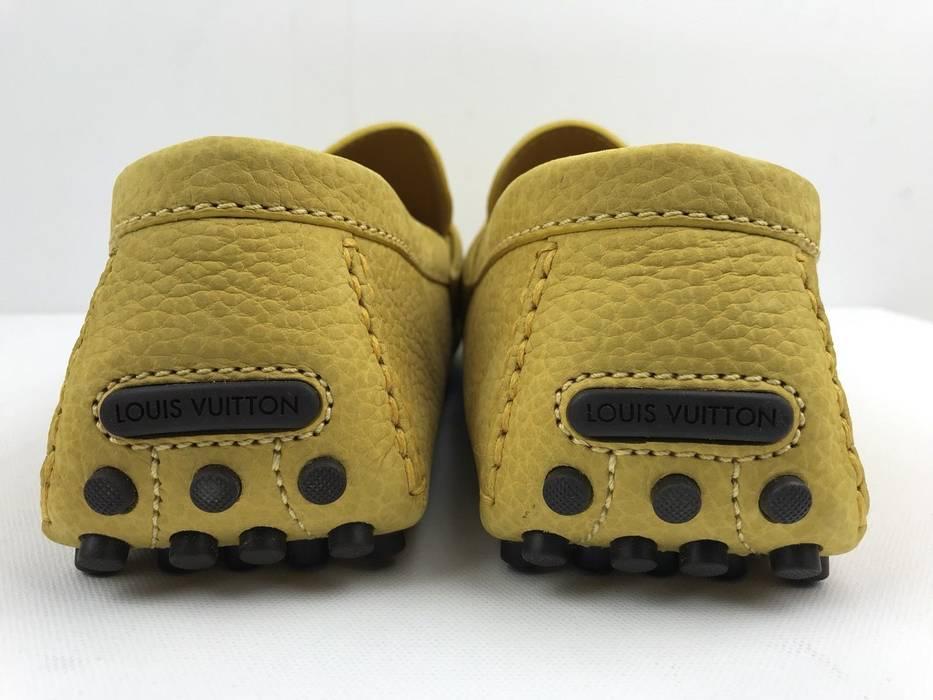 13d188d51bb8 Car Shoe LOUIS VUITTON HOCKENHEIM MOCCASIN CAR SHOE YELLOW MENS SUEDE NEW  AUTHENTIC Size US 12