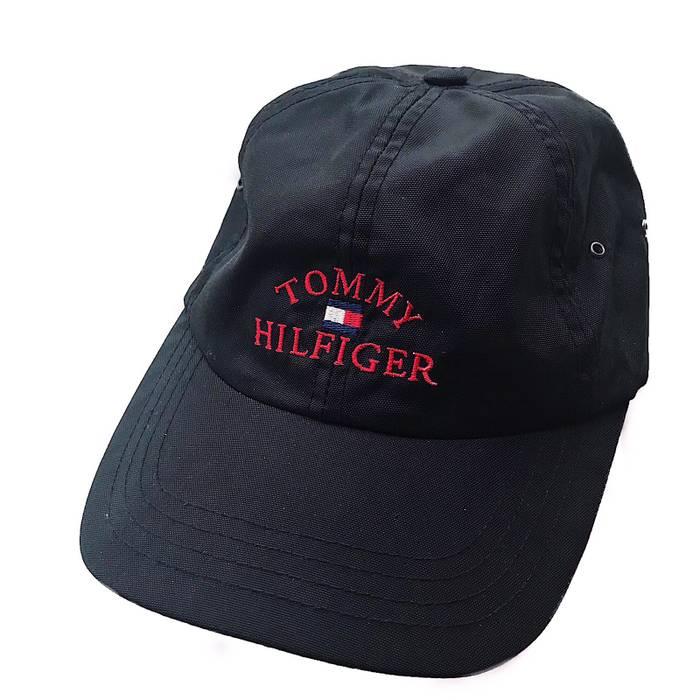 Tommy Hilfiger Vintage 90s Tommy Hilfiger Spellout Ripstop Nylon Cap ... c5a099833cc