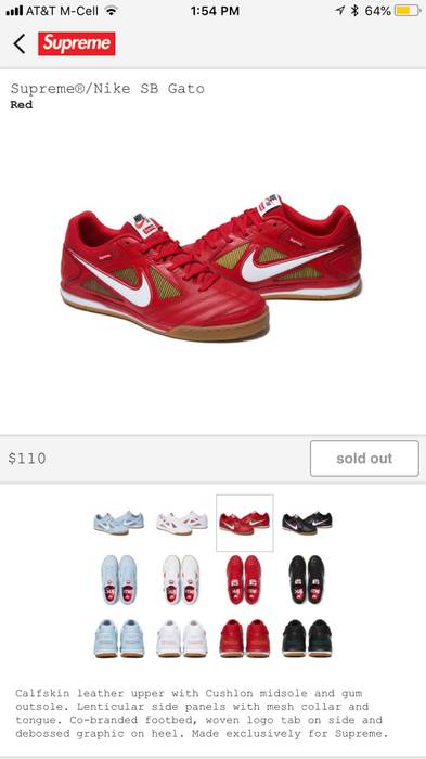 9f7c2116473 Supreme Supreme Nike SB Gato Size 9.5 - Low-Top Sneakers for Sale ...