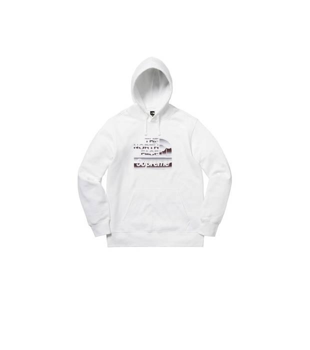 Supreme Supreme X North Face Metallic Logo Hoodie White M Size M