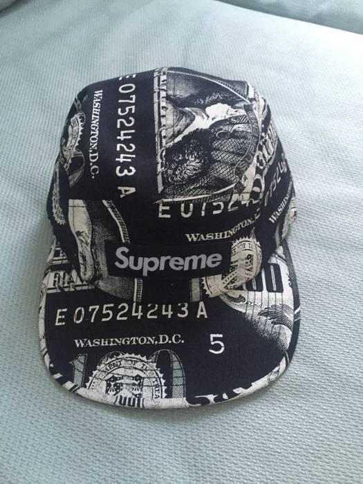 3fb092b8004 Supreme. Supreme Franklin 5 Panel Box Logo Camp Hat Black. Size  ONE SIZE