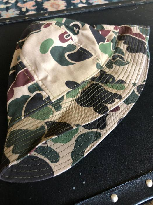 Vintage Made In USA Vtg Duck Camo Frogskin Bucket Hat (Final Price Drop)  Size a230055d0ac