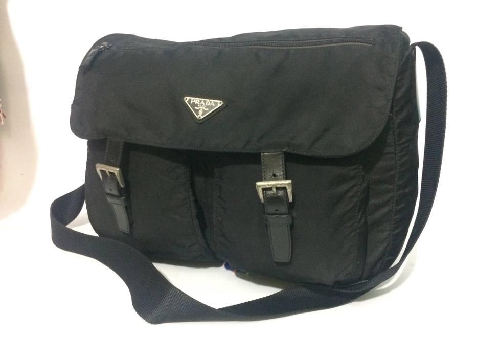 7f08b3eb4d73 ... black blue 98e84 d1289 closeout prada prada messenger bag size one size  d6da0 89206 ...
