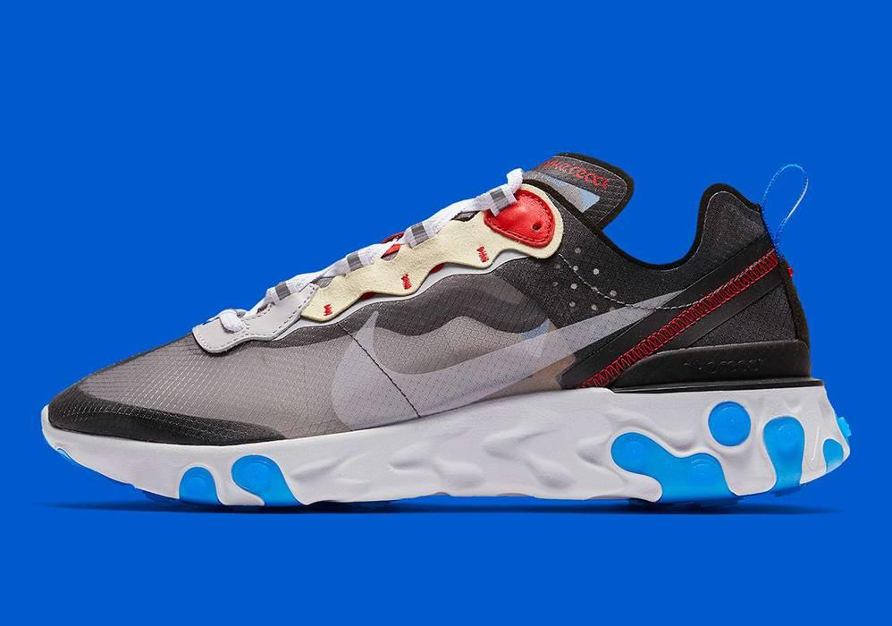 6c5fd5dc351a Nike Nike React Element 87 Men Photo Blue 12 Size 12 - Low-Top ...