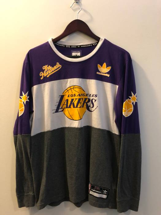 Adidas The Hundreds Lakers Long Sleeve Size l - Long Sleeve T-Shirts ... 68095e23e