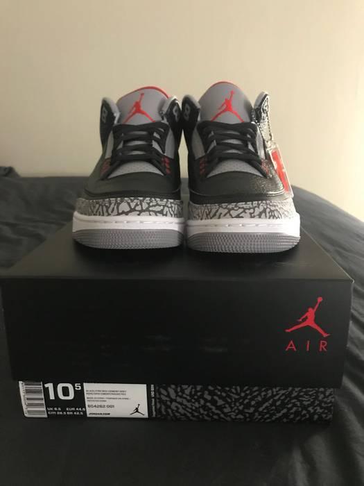 73175b225b43 Jordan Brand Air Jordan Black Cement 3 18  Size 10.5 - Low-Top ...