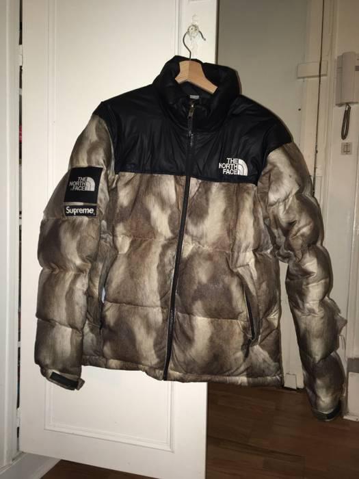 Supreme Supreme X The North Face Fur Print Nuptse Brown Size M