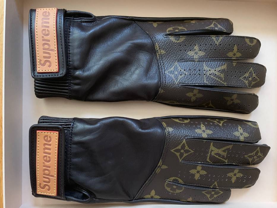 Supreme Louis Vuitton X Supreme Brown Leather Lv Baseball Gloves