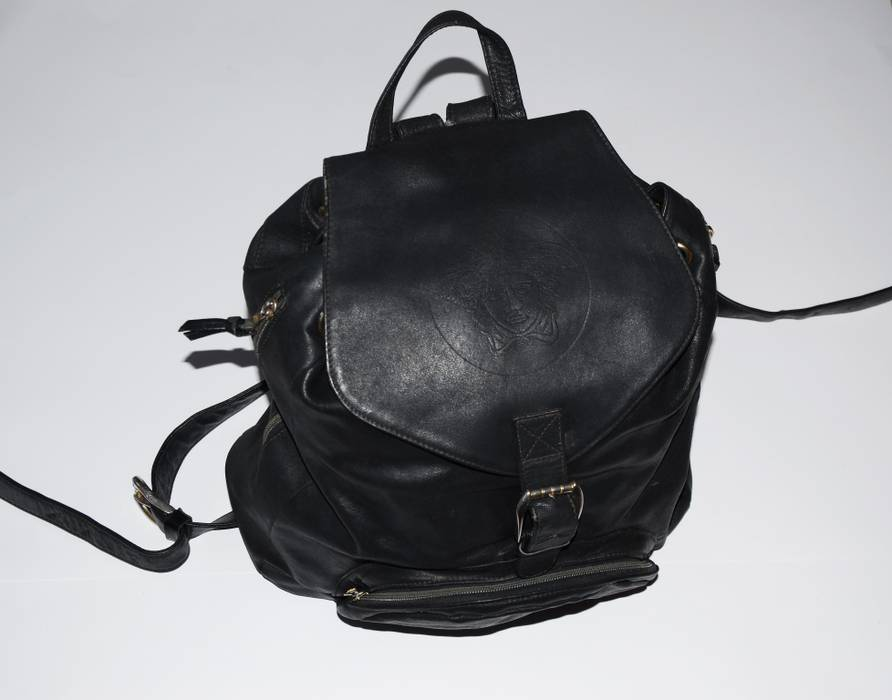 5c389e1d6e Versace GIANNI VERSACE big leather medusa backpack rare item Size ...