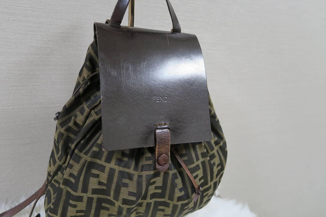 63429a1f615a Fendi Fendi Zucca Vintage Small Monogram Logo FF Print Backpack Size ...