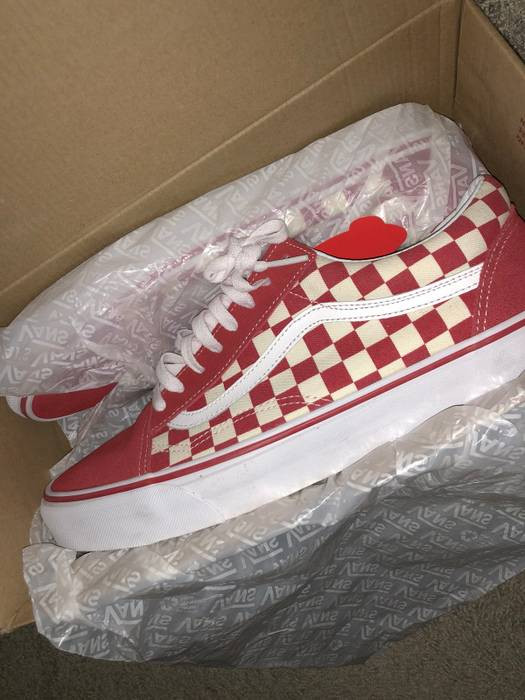 bd739bc6b0e8da Vans Red Checkered   Checkerboard Old Skool Size 11 - Low-Top ...