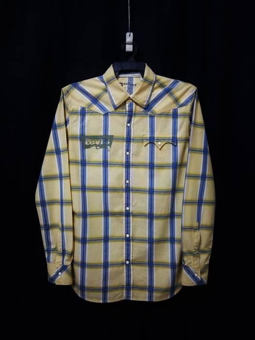 684f7d6d31 Street Wear × Levi s Vintage Clothing × Rockability. 🔥Vintage Levis  Checker Plaid Snap Button Up Shirt RARE