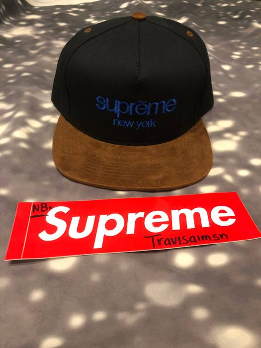 b45373e67b9 Supreme DS Supreme Black Classic Logo Suede Cap Size one size - Hats ...