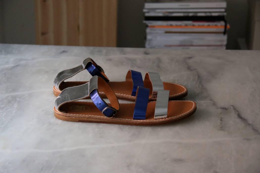 c6063f6b395 Acne Studios Metallic Leather Gladiator Sandals Size 11 - Sandals ...