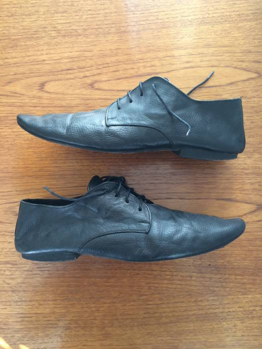 Chronicles Of Never Black Leather Designer Shoes Boots Size 12