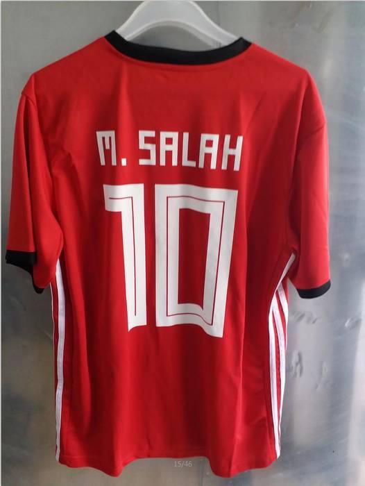 Soccer Jersey. Mens  10 Mohamed Salah Egypt Soccer Jersey Football Jersey  Home 2018 World CUp dc566db16