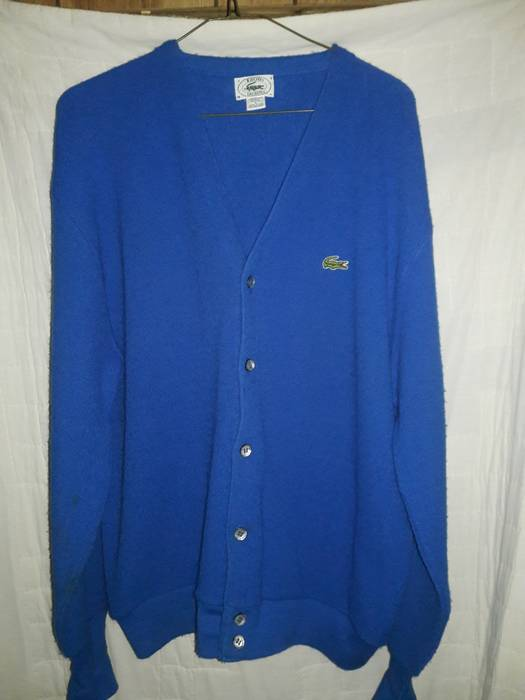 064c9bf928b3 Vintage Lacoste x Izod TRUE VINTAGE 60s 70s Cardigan Sweater L Large Size  US L