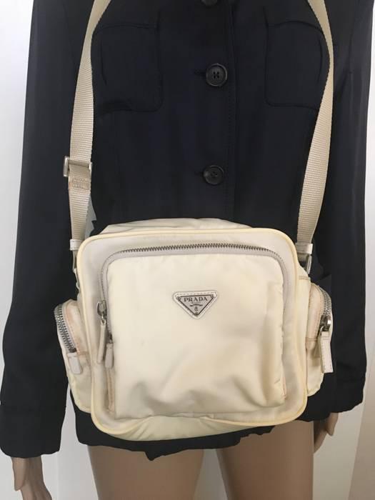 dc069b9d364e Prada HARD TO FIND OFF WHITE PRADA CAMERA DANUBE MESSENGER CARGO POCKET BAG  Size ONE SIZE