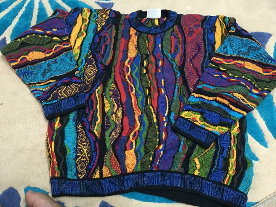 Coogi Rare Authentic Vintage Coogi Sweater Bright Rainbow Multicolored 90s 3d Size M Size Us M