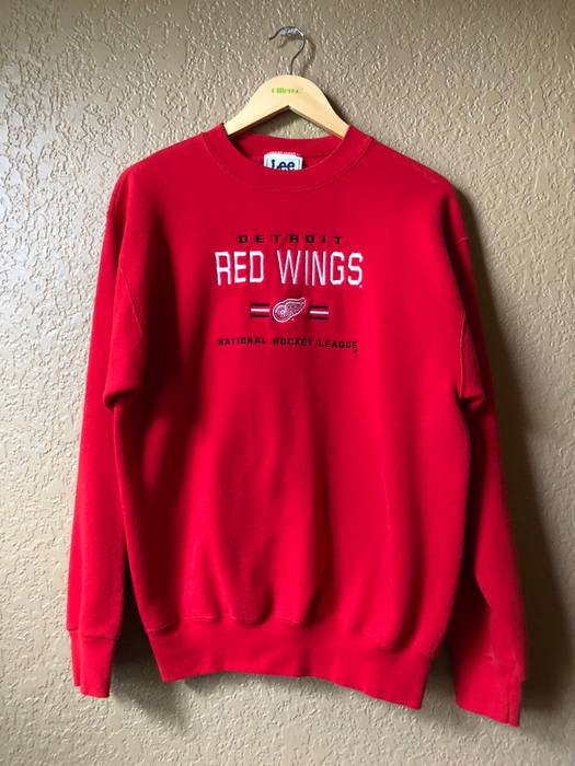 Vintage 90s Detroit Red Wings Embroidered Logo Crewneck Sweatshirt Size US  XL   EU 56   e67cf3062