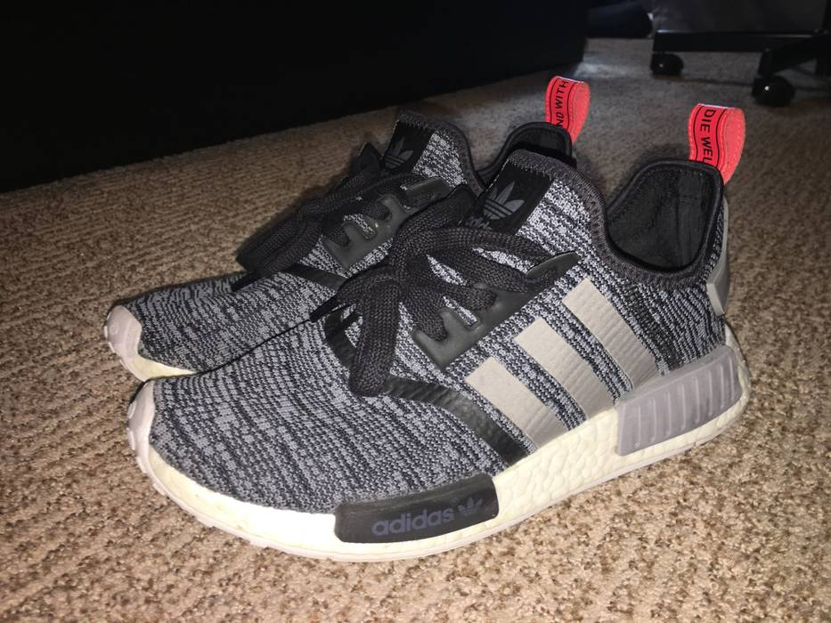 official photos 17b5b 8e1ad Adidas NMD R1 Runner Core Black Grey Glitch Camo BB2884 Size US 9  EU 42
