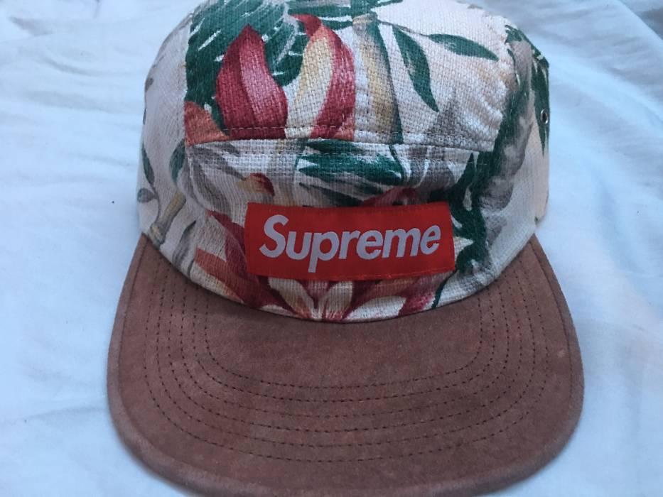 2d10db52e7f Supreme Supreme Navy Floral Camp Cap Size one size - Hats for Sale ...