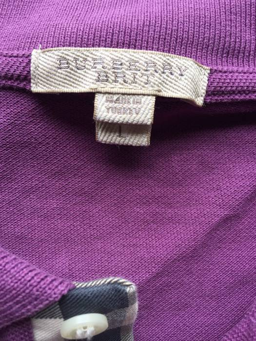 ac798a99b204 Burberry Mauve Burberry Brit Polo Size l - Short Sleeve T-Shirts for ...