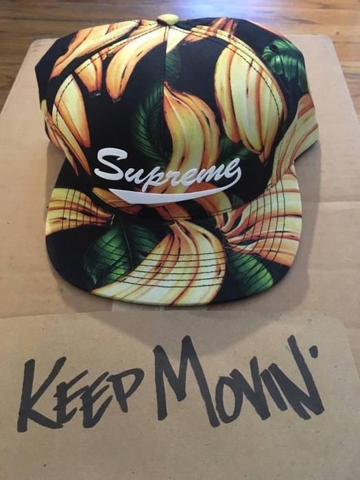 Supreme Supreme Bananas Snap Back Hat Cap Black Banana Size one size ... f76eb8196ed
