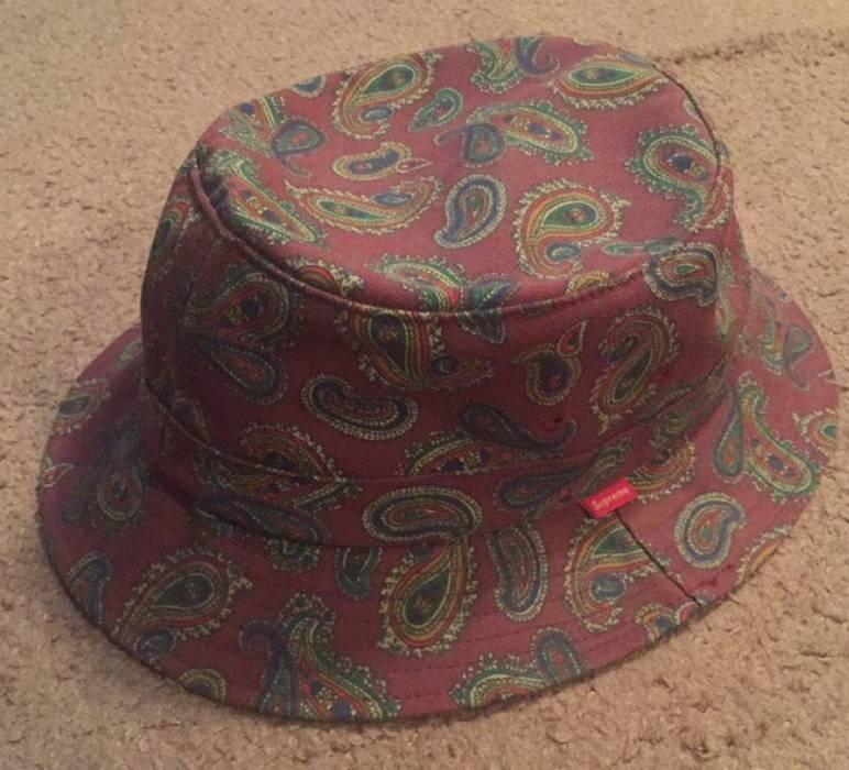 aa0c8d137ed Supreme Supreme Paisley Crusher Bucket Hat Burgundy M L Size one ...