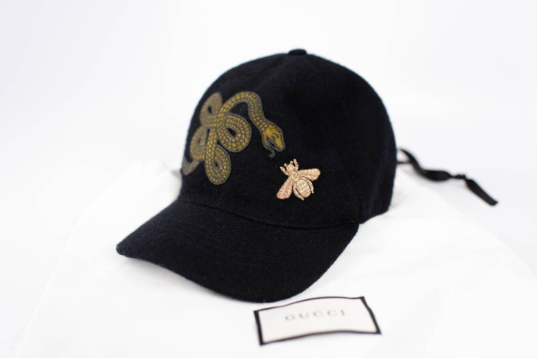 Gucci Black Felt Hat With Snake And Bee Size one size - Hats for ... 969561a6596