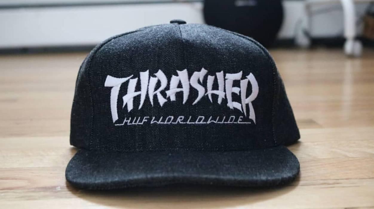 55434c8d815 Thrasher Thrasher x Huf Stoops Asia Tour Denim Snapback Size ONE SIZE