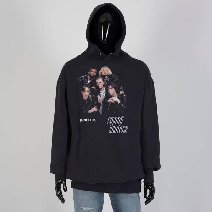 5b72be20634d Balenciaga 1650  Black Cotton Men s Speedhunters Oversized Hoodie Sweatshirt  Size US XXS   EU 40