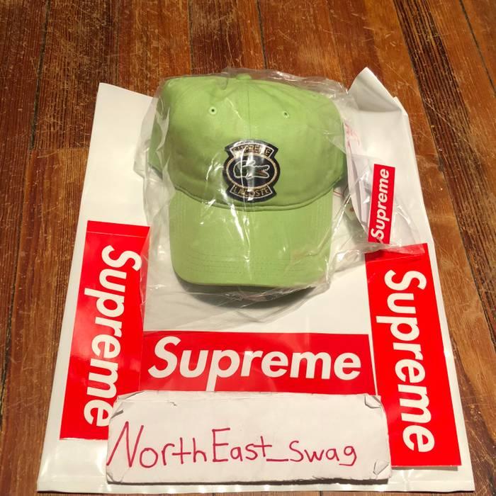 Supreme Supreme Lacoste Twill 6-Panel Hat Camp Cap Light Pale Lime Green  Strapback S 8dea4cc7668