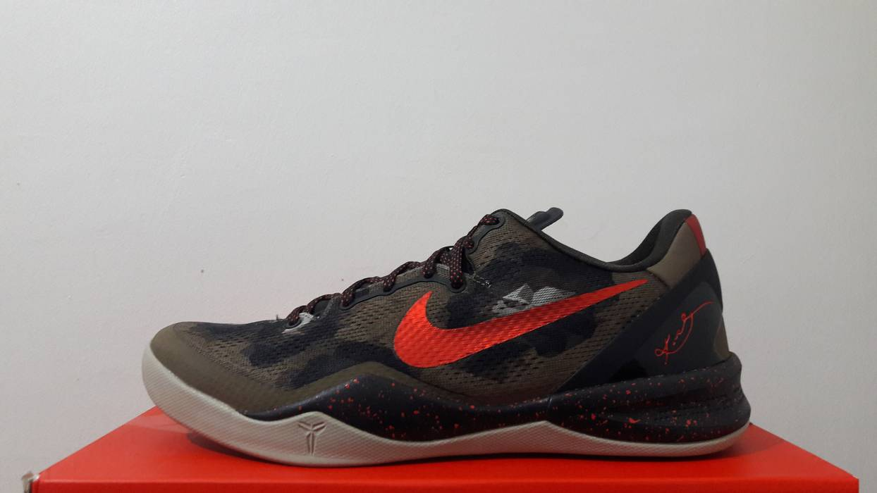 cheap for discount 2f53b 4adf7 Nike. kobe 8 system python camouflage green red ...