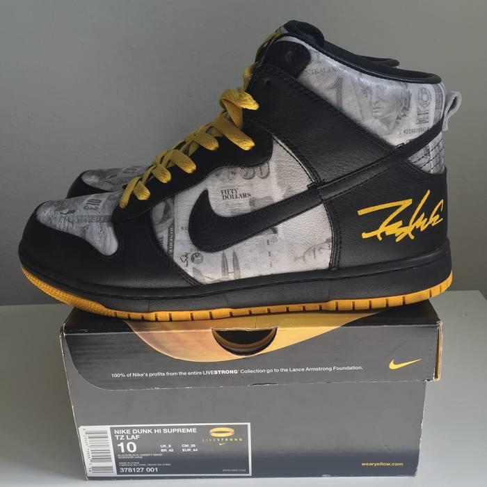 Supreme Nike Dunk Hi Supreme TZ FLOM by Futura LIVESTRONG US10 Size US 10    EU 0c5087534c7e