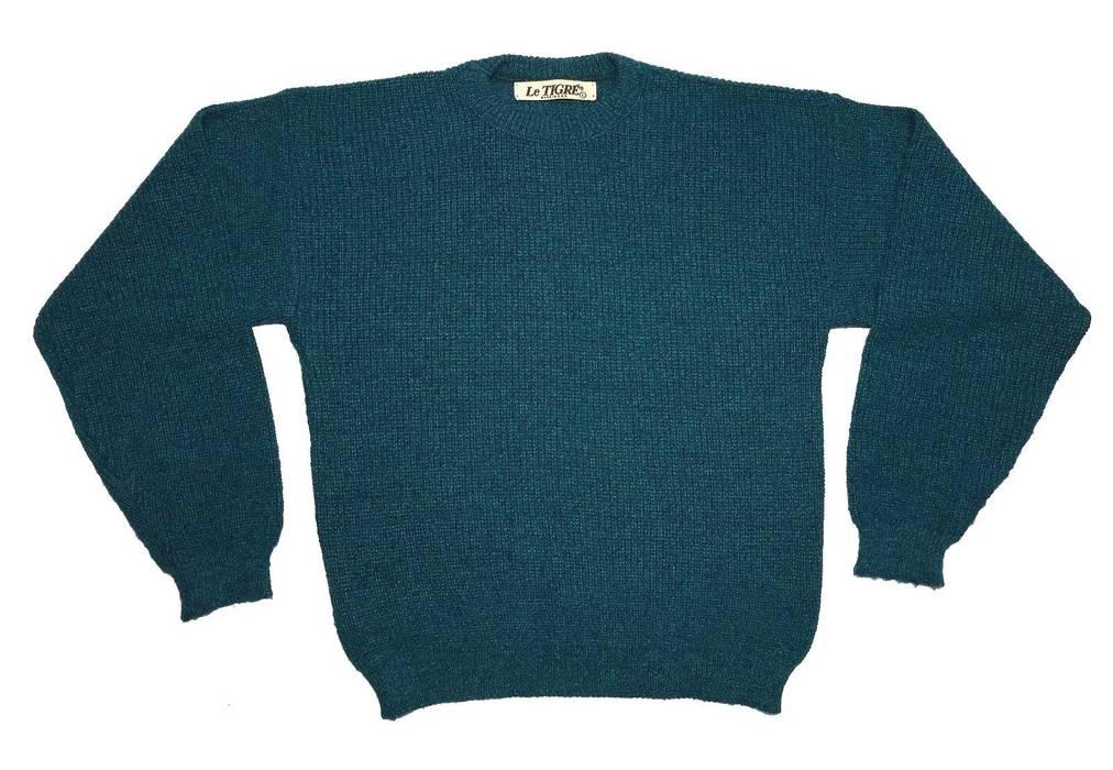 284df02f97 Vintage Turquoise   Black Pullover Crewneck Sweater Size US L   EU 52-54