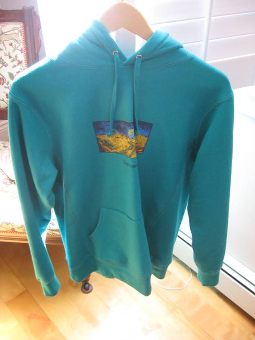 881192bcc73 Supreme. Used Size Medium Supreme Aqua Green Van Gogh Field Hoodie Hooded  Sweatshirt