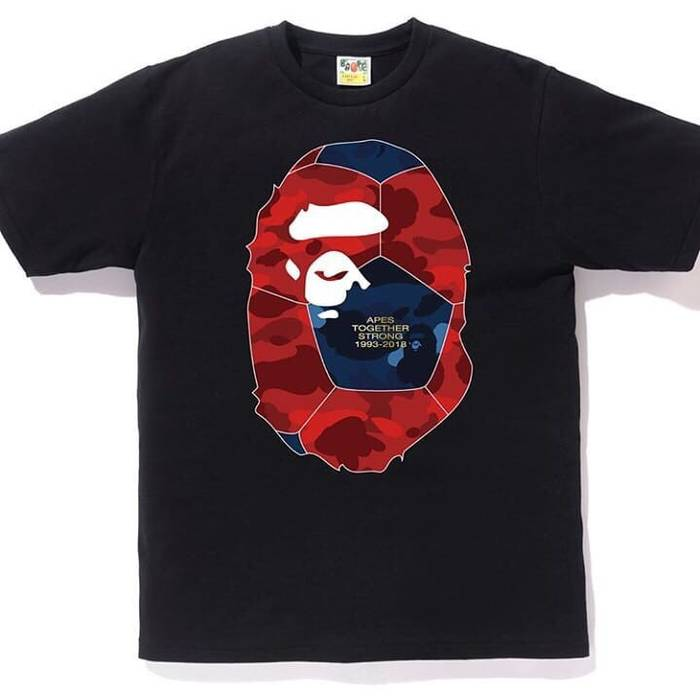 301092c6 Bape Bape World Cup Ape Head Tee 2018 Size l - Short Sleeve T-Shirts ...
