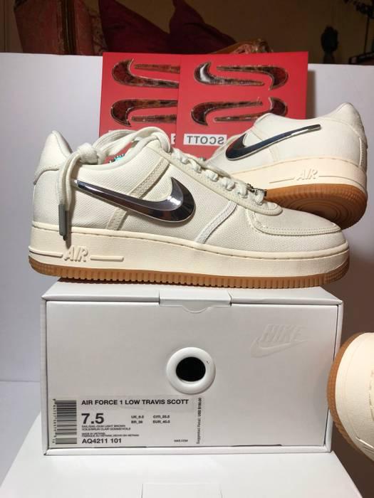Nike Travis Scott Nike Air Force 1 One Sail Patch AF1 White Peel Astroworld  Cactus Jack 41a264b3b